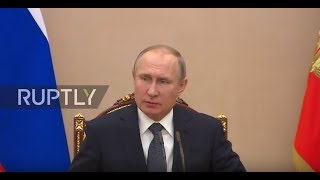 EUROPESE OMROEP | Ruptly | Russia: Putin discusses Afrin during Security Council meeting in Moscow | 1519144183 2018-02-20T16:29:43+00:00