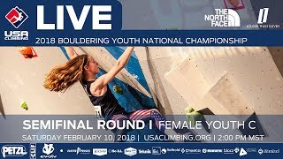 EUROPESE OMROEP | USA Climbing | Female Youth C • Semi-Final • 2018 Youth Bouldering Nationals • 2/10/18 2:00 PM | 1518304220 2018-02-10T23:10:20+00:00