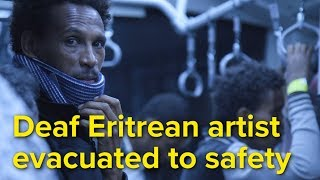 EUROPESE OMROEP | UNHCR, the UN Refugee Agency | Libya: Deaf Eritrean artist evacuated to safety | 1518701936 2018-02-15T13:38:56+00:00