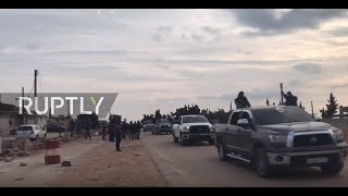 EUROPESE OMROEP | Ruptly | Syria: Pro-Syrian govt. fighters enter Afrin amid Turkish threats | 1519142327 2018-02-20T15:58:47+00:00