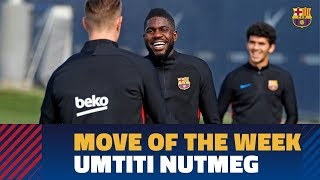 EUROPESE OMROEP | FC Barcelona | MOVE OF THE WEEK #10 | Umtiti nutmegs Ter Stegen | 1518621516 2018-02-14T15:18:36+00:00