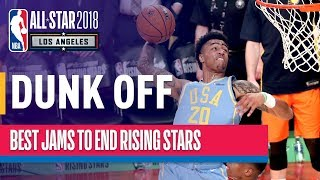 EUROPESE OMROEP | NBA | AWESOME DUNK OFF towards end of 2018 Rising Stars | Presented by Mtn Dew Kickstart | 1518849001 2018-02-17T06:30:01+00:00