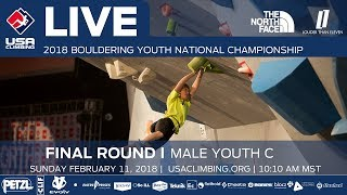 EUROPESE OMROEP | USA Climbing | Male Youth C • Finals • 2018 Youth Bouldering Nationals • 2/11/18 10:10 AM | 1518373647 2018-02-11T18:27:27+00:00