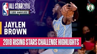 EUROPESE OMROEP | NBA | Jaylen Brown SHOWS OUT in 2018 Rising Stars  | Presented by Mtn Dew Kickstart | 1518846289 2018-02-17T05:44:49+00:00