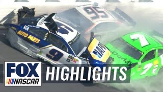 EUROPESE OMROEP | FOX Sports | Danica Patrick & Chase Elliott collected in violent crash | 2018 DAYTONA 500 | FOX NASCAR | 1518991893 2018-02-18T22:11:33+00:00