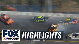 EUROPESE OMROEP | FOX Sports | Johnson, Byron, & Suárez wreck as Busch wins stage 1| 2018 DAYTONA 500 | FOX NASCAR | 1518990775 2018-02-18T21:52:55+00:00