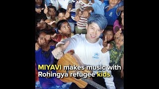 EUROPESE OMROEP | UNHCR, the UN Refugee Agency | MIYAVI makes music with Rohingya refugee kids | 1518531689 2018-02-13T14:21:29+00:00