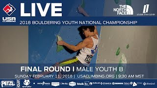 EUROPESE OMROEP | USA Climbing | Male Youth B  • Finals • 2018 Youth Bouldering Nationals • 2/11/18 9:30 AM | 1518371516 2018-02-11T17:51:56+00:00