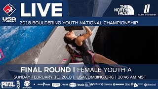 EUROPESE OMROEP | USA Climbing | Female Youth A • Finals • 2018 Youth Bouldering Nationals • 2/11/18 10:46 AM | 1518376418 2018-02-11T19:13:38+00:00