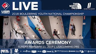 EUROPESE OMROEP | USA Climbing | Awards Ceremony • 2018 Youth Bouldering Nationals • 2/11/18 1:30 PM | 1518386148 2018-02-11T21:55:48+00:00