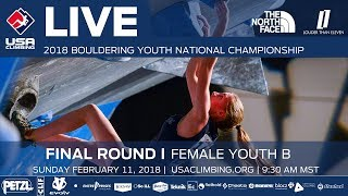 EUROPESE OMROEP | USA Climbing | Female Youth B • Finals • 2018 Youth Bouldering Nationals • 2/11/18 9:30 AM | 1518371221 2018-02-11T17:47:01+00:00