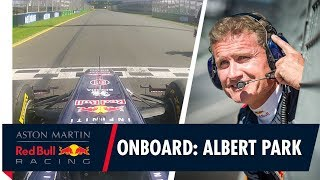 EUROPESE OMROEP | Aston Martin Red Bull Racing | On Board with David Coulthard at Albert Park | 1517659203 2018-02-03T12:00:03+00:00