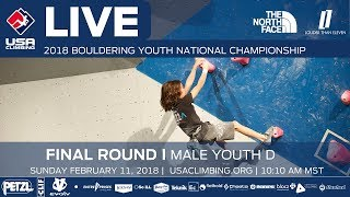 EUROPESE OMROEP | USA Climbing | Male Youth D • Finals • 2018 Youth Bouldering Nationals • 2/11/18 10:10 AM | 1518373601 2018-02-11T18:26:41+00:00