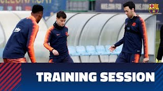 EUROPESE OMROEP | FC Barcelona | Recovery session following scoreless draw at Camp Nou | 1518439025 2018-02-12T12:37:05+00:00