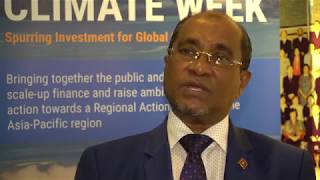 EUROPESE OMROEP | United Nations ESCAP | Voices from Asia-Pacific Climate Week 2017: H.E. Abdullahi Majeed | 1513577601 2017-12-18T06:13:21+00:00